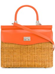 Rodo Basket Tote Bag Yellow And Orange