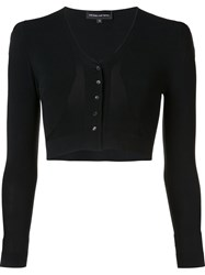 Narciso Rodriguez V Neck Cropped Cardigan Black