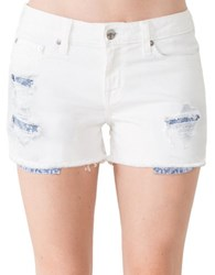 Big Star Alex Denim Shorts Teravita White