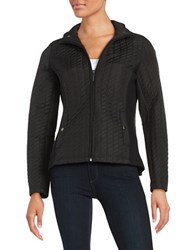Weatherproof Plus Quilted Zip Front Jacket Black