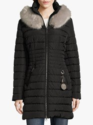 Betty Barclay Quilted Hooded Coat Black
