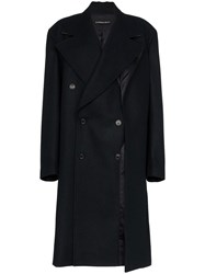 Y Project Long Sleeve Double Breasted Oversized Coat Blue