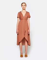 Farrow Cecily Wrap Dress Tan