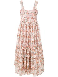 Ainea Floral Print Maxi Dress Pink And Purple
