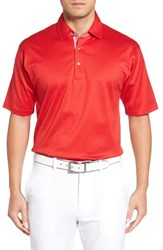 Bobby Jones Men's Diamond Jacquard Golf Polo