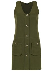 Olympiah Andes Flared Dress Green
