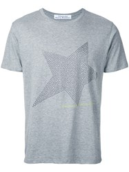 Education From Youngmachines Studded Star T Shirt Grey