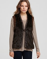 Guess Beca Faux Fur Vest Bison Multi