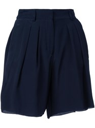 Scanlan Theodore 'Cdc' Pleated Front Shorts Blue