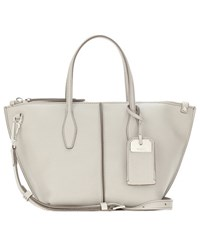 Tod's Joy Mini Leather Shoulder Bag Grey