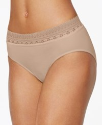 Bali Comfort Revolution Lace Brief 803J Nude Lace