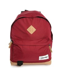 Eastpak Burgundy Wyoming 24L Backpack With Leather Details