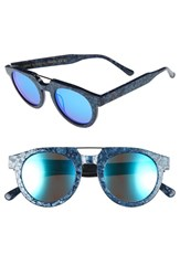 Spektre Women's 'Doppio Ponte' 47Mm Sunglasses Denim Blue Mirror Denim Blue Mirror