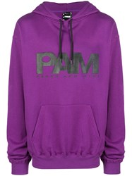 P.A.M. Perks And Mini Pam Logo Printed Hoodie Pink And Purple
