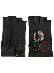 Chanel Vintage Fingerless Gloves Black
