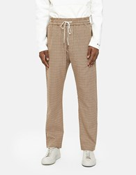 Cmmn Swdn Buck Trackpant In Yellow Check
