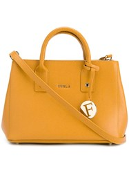 Furla Logo Tag Tote Yellow Orange