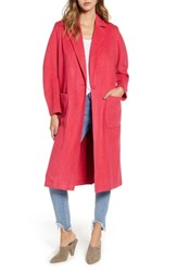 Leith Single Button Long Jacket Pink Teaberry