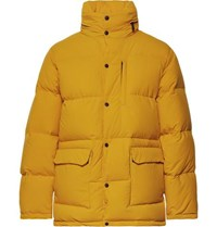 Aspesi Quilted Nylon Hooded Down Jacket Yellow