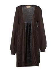 Aniye By Cardigans Dark Brown