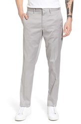 Nordstrom Shop Slim Fit Non Iron Chinos Grey Alloy