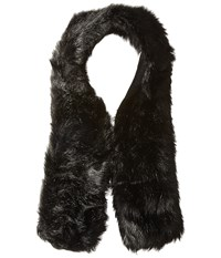 Hat Attack Long Faux Fur Collar Black Scarves