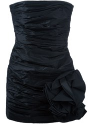 Faith Connexion Strapless Ruched Dress Black