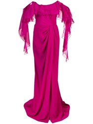Marchesa Off The Shoulder Gown Pink