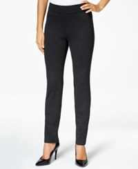 Charter Club Pull On Twill Skinny Pants Only At Macy's Heather Onyx