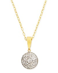 Lentil Ice 24K Gold And Diamond Pendant Necklace Gurhan