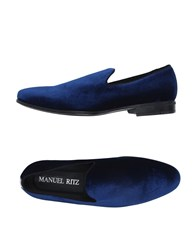 Manuel Ritz Footwear Moccasins Men Blue