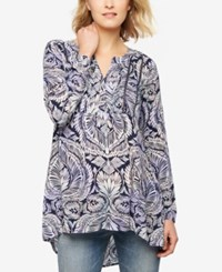 A Pea In The Pod Maternity Printed Tunic Pasiley Print