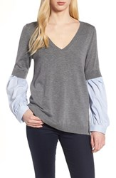 Trouve Woven Sleeve Sweater