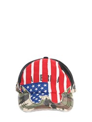 Vetements Printed Logo Camo America Hat Camouflage