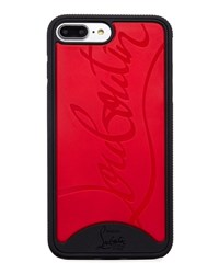 Christian Louboutin Embossed Logo Loubiphone Sneakers Case For Iphone X Black Red