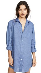 Frank And Eileen Mary Long Sleeve Button Down Dress Famous Blue