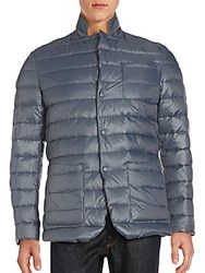 Jetlag Long Sleeve Puffer Jacket Blue