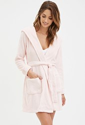 Forever 21 Classic Hooded Robe Pink