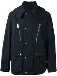 Moncler Hooded Parka Jacket Blue