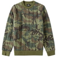 Stussy Quilted Crew Sweat Green