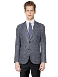 Giorgio Armani Upton Linen Silk And Wool Twill Jacket