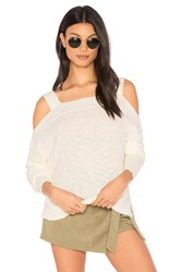 Feel The Piece Bonnie Cold Shoulder Sweater Ivory