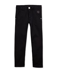Kenzo Straight Leg Chino Trousers Black Size 2 5