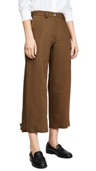 See By Chloe Cropped Trousers Smoked Brown
