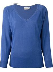Moncler Cropped Boxy Sweater Blue