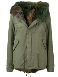 Mr And Mrs Italy Fur Trim Hooded Parka Green