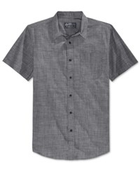 American Rag Men's Zac Elongated Short Sleeve Shirt Only At Macy's Black Combo