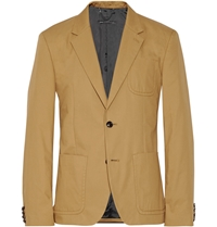 Marc By Marc Jacobs Harvey Cotton Twill Blazer Brown