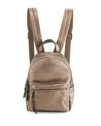 French Connection Perry Faux Leather Mini Backpack Pewter