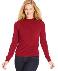 Karen Scott Long Sleeve Mock Turtleneck Sweater New Red Amore